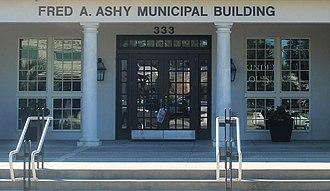 Kinder, Louisiana - Ashy Municipal Building is named for former Kinder Mayor Fred A. Ashy