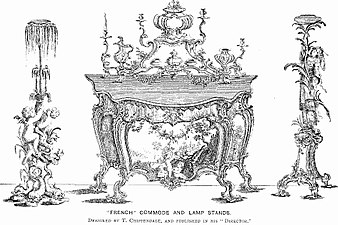 French Commode and Lamp Stands