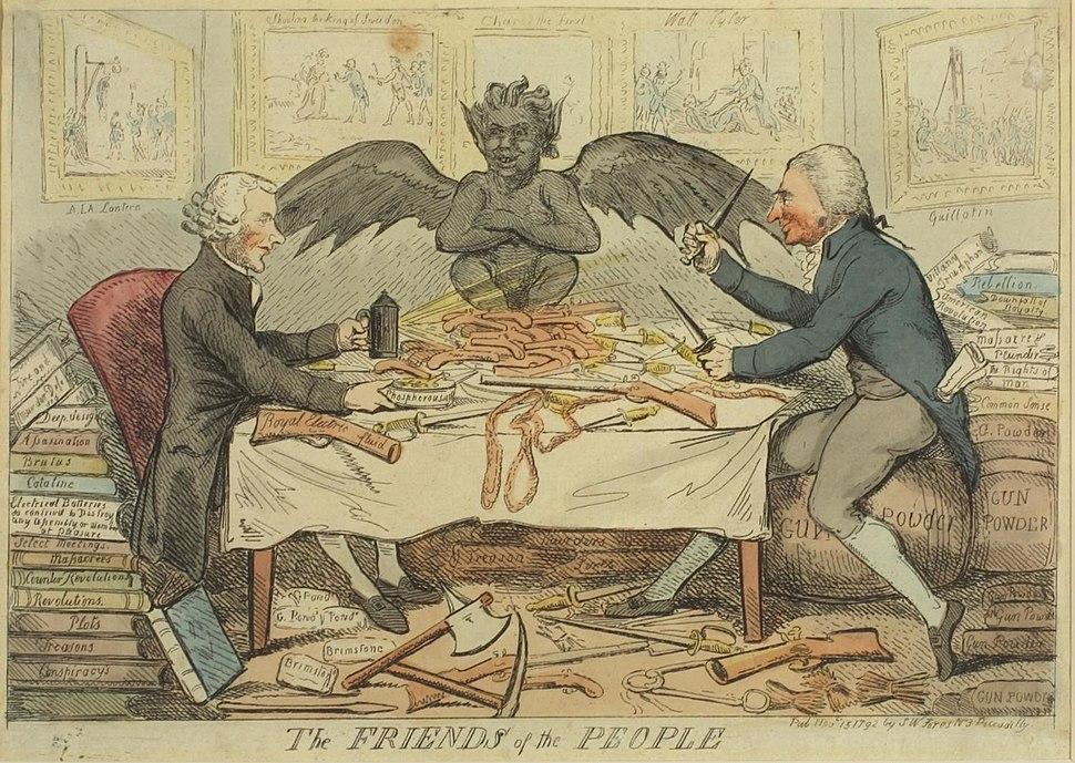 Friends of the People 1792 Cruikshank