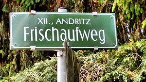 """Johannes Frischauf - Graz: Street sign """"Frischaufweg"""""""
