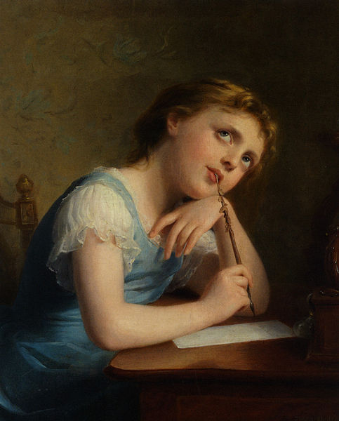 Mynd:Fritz Zuber-Bühler - Distant Thoughts, Oil on Canvas.jpg