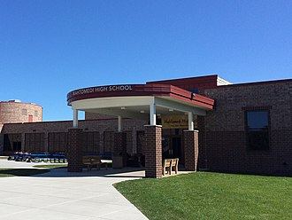 Mahtomedi High School - The front of Mahtomedi High School