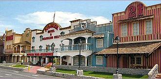 Pioneer Hotel & Gambling Hall - Roadside view of Pioneer in 2006