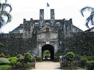 Fort San Pedro - Front entrance of Fuerte de San Pedro