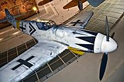 Full Scale Model Bf 109G-6 flown by Erich Hartmman February 1945 - San Diego Air & Space Museum (9668450448).jpg