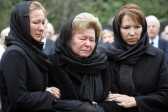 Death and state funeral of Boris Yeltsin - Yeltsin's widow and daughters.