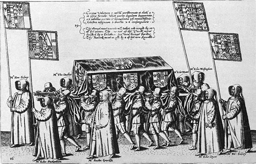 Funeral procession of Sir Philip Sidney 1587 Theodor de Bry pallbearers