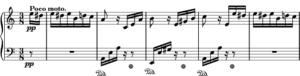 English: Opening phrase of Für Elise. Nederlan...