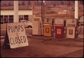 GASOLINE SHORTAGE HIT THE STATE OF OREGON IN THE FALL OF 1973 BY MIDDAY GASOLINE WAS BECOMING UNAVAILABLE ALONG... - NARA - 555405.tif