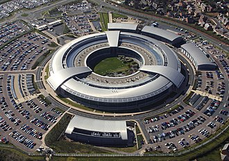 Cheltenham - 'The Doughnut', the headquarters of GCHQ
