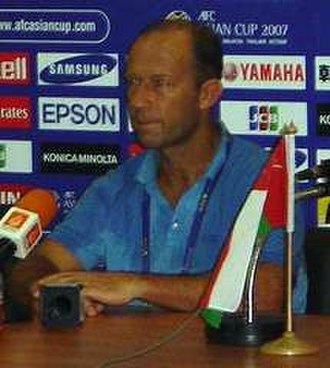 Gabriel Calderón - Calderón in a pre-match conference in the 2007 AFC Asian Cup