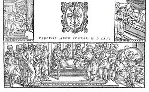 Dissection - Galen (129–c.200 AD), Opera omnia, dissection of a pig. Engraving made in Venice, 1565