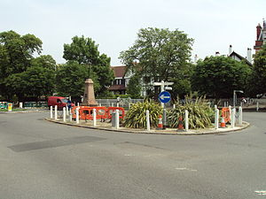 Gallery Road - Image: Gallery Road Roundabout, Dulwich DSC05988