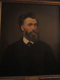Portrait of John T. Monroe in Gallier Hall, New Orleans
