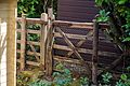 Garden fence and gate at Nuthurst, West Sussex, England.jpg