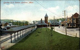 Gardner station - Union Station in 1910