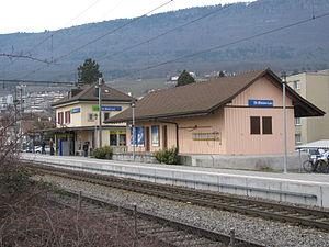 Saint-Blaise, Switzerland - Train Station at St-Blaise