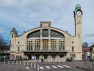 railway station in Rouen, France