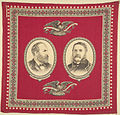 "Garfield-Arthur ""The Union And The Constitution Forever"" Portrait Handkerchief, 1880 (4359353919).jpg"