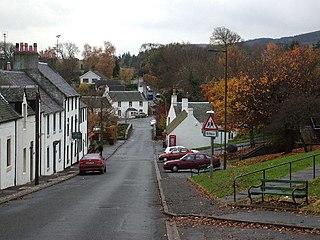 Gargunnock village in Stirling, Scotland, UK