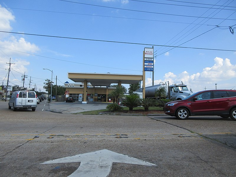 File:Gas Station on Airline Highway Metarie Louisiana Sept 2017.jpg