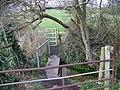 Gates and footbridge near Homington House - geograph.org.uk - 736484.jpg