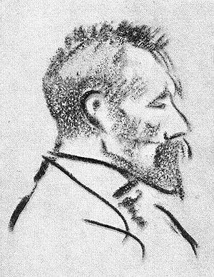 August Gaul - August Gaul, porträt by Heinrich Zille