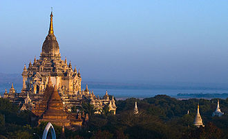 Myanmar architecture - The Gawdawpalin Temple in Bagan was built during the 12th century.