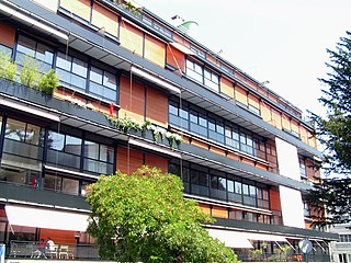 Apartment building in Geneva designed by Le Corbusier and Pierre Jeanneret (1928-32)