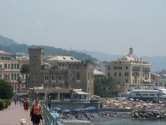 Pegli - View of the Pegli promenade.