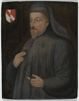 Geoffrey Chaucer - Portrait of Chaucer from the 17th century.
