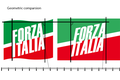 Geometric comparsion of symbolism of the Forza Italia.png