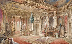 Great chamber - Georg Janny, Salon in Makartstil