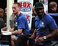 George Groves, Adam Booth, David Haye - Wembley 2011-11-05.jpg