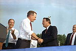 George H.W. Bush with Bobby Bowden Tallahassee, Florida.jpg