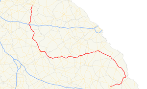 Georgia State Route 24 - Image: Georgia state route 24 map