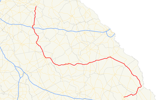 Georgia State Route 24 - Image: Georgia state route 24 map