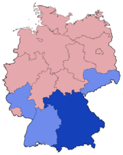 German Federal Election - Party list vote results by state - 2002.png