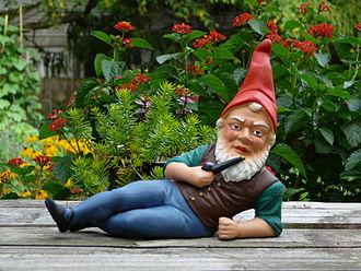 Garden gnome - A German garden gnome
