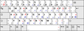 German keyboard layout T2 according to DIN 2137-01--2012-06 (some symbols marked blue).png