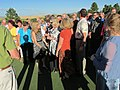 Getting ready for groop picture on the green (9570528851).jpg