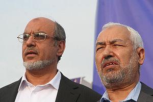 Rached Ghannouchi et Hamadi Jebali, président ...