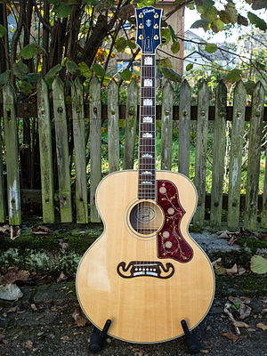 Steel-string acoustic guitar - Image: Gibson SJ200