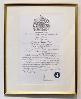 Royal Warrant of Appointment (United Kingdom)