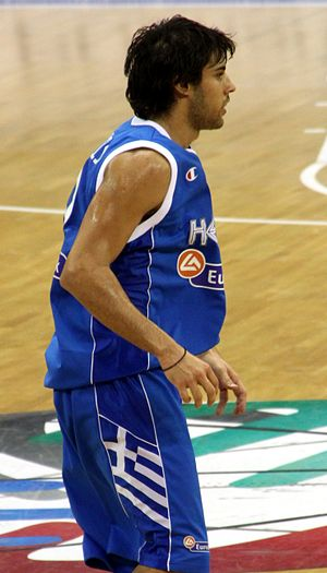 Georgios Printezis - Printezis playing for the Greek national team.