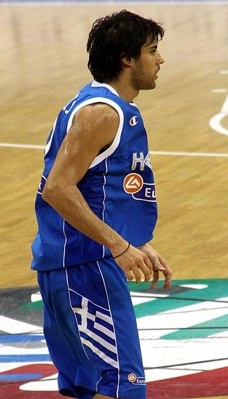 Georgios Printezis - Printezis playing for the Greek national team.