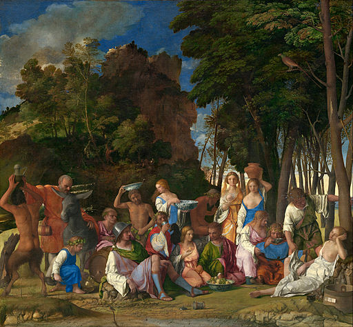 Giovanni Bellini and Titian - The Feast of the Gods - Google Art Project