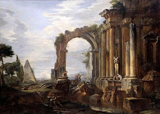 Giovanni Paolo Pannini - Capriccio of Classical Ruins - WGA16965
