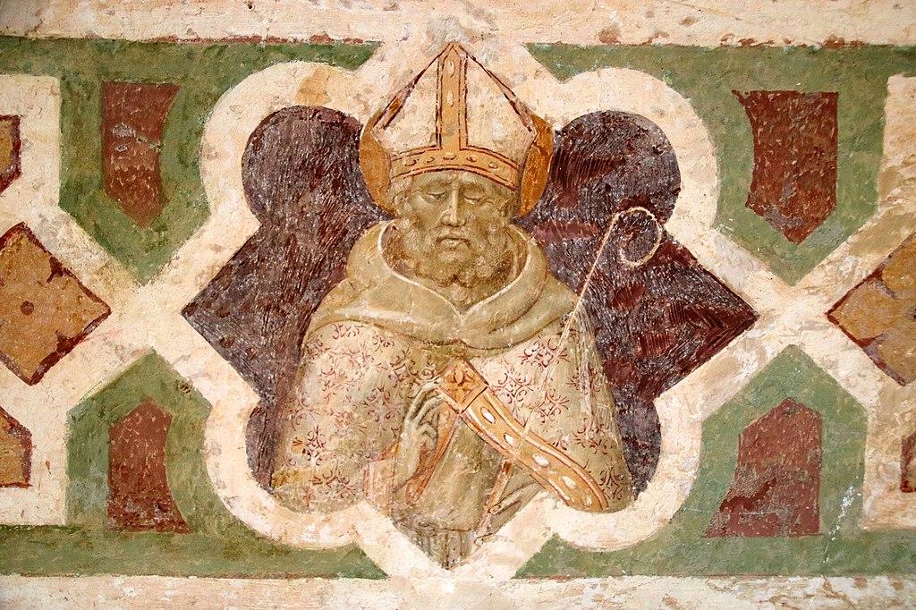 Giovanni di Paolo, Crocifissione, affresco, L' eremo di San Leonardo al Lago, Siena