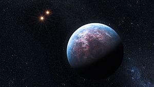 English: The 6 Earth-mass exoplanet circulates...